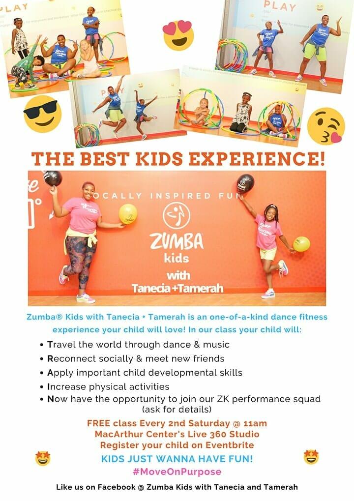 Zumba Kids at MacArthur Center