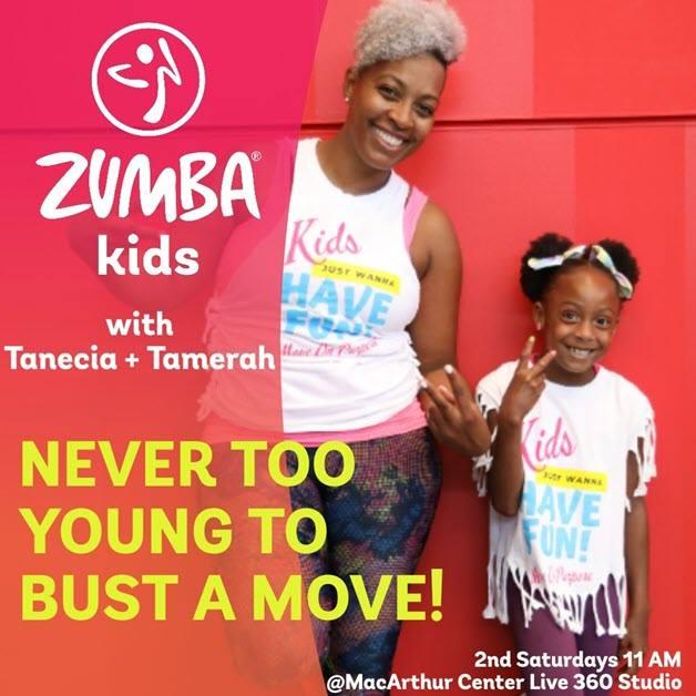 Free Zumba Kids at MacArthur Center